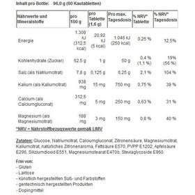 SaltStick Fastchews - Nutrition sport - 60 gommes à mâcher citron avec sel et minéraux vert